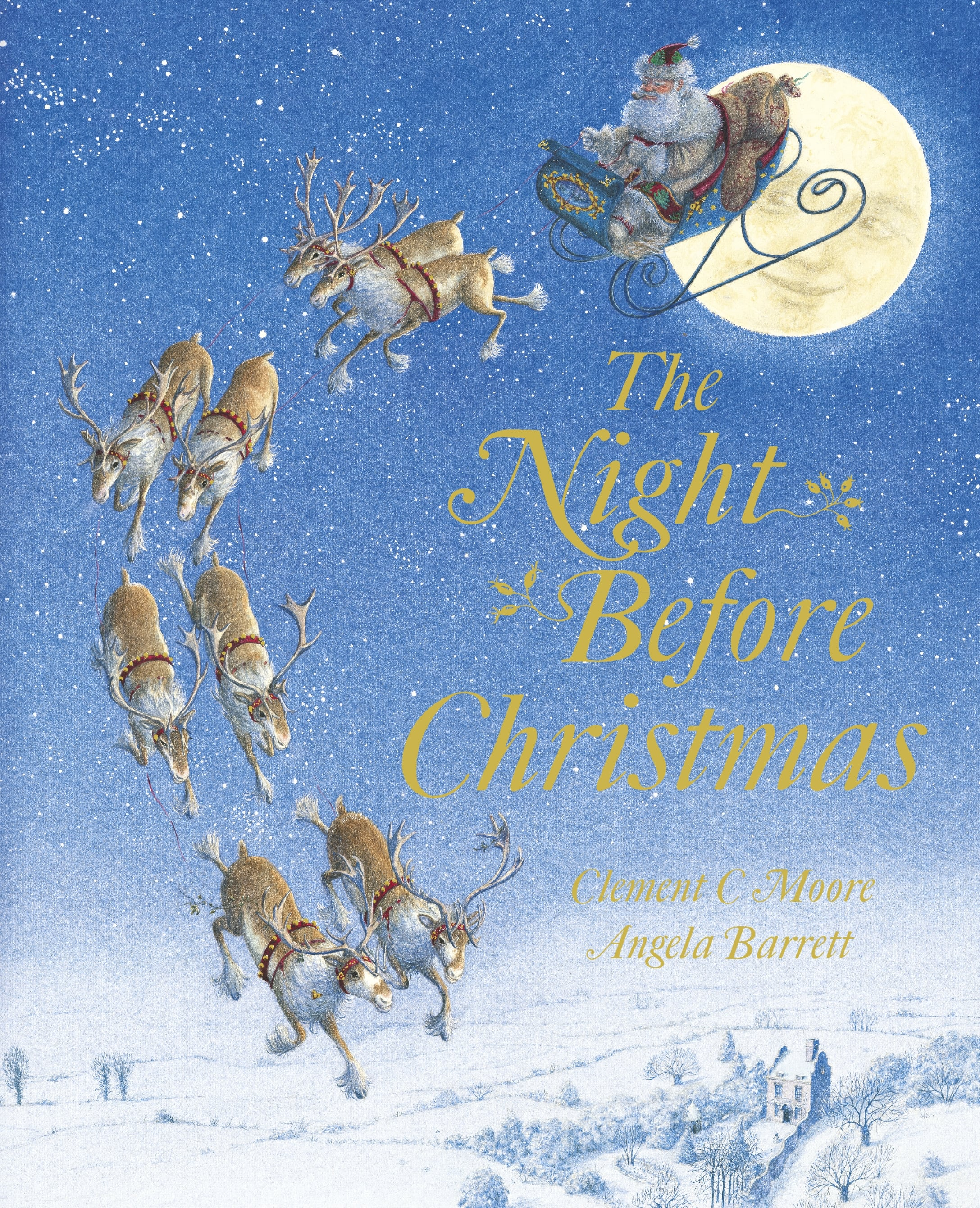 night before christmas by clement c moore angela barrett - Night Before Christmas Book