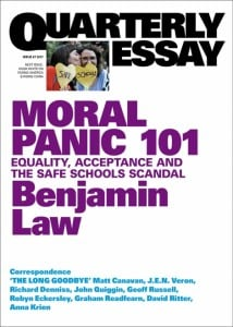 Moral Panic 101: Equality, Acceptance and the Safe Schools Scandal