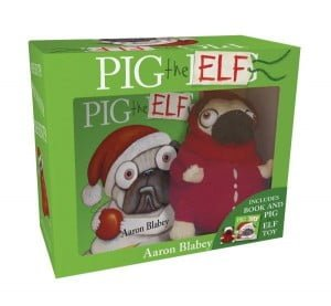 Pig the Elf mini hardcover and plush toy