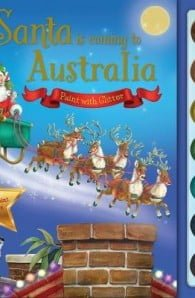 Santa is Coming to Australia Paint with Glitter