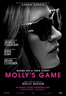 Enter for your chance to win a free DVD copy of Molly's Game