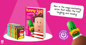 Max-imum hilarity and awesome illustrations: Review of Funny Kid Peeking Duck by Matt Stanton