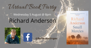 Live Book Event: Richard Anderson, Author of Small Mercies