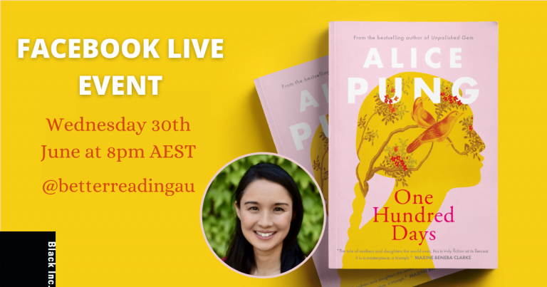 Live Facebook Event: Alice Pung, Author of One Hundred Days